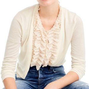 NWT J. Crew Ivory Cardigan Sweater